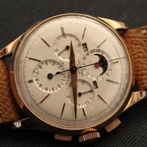 Universal Genève TRI COMPAX rose gold oversized case complete...