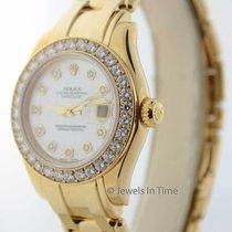 Rolex Ladies Pearlmaster 80318 18K Yellow Gold & Diamonds...