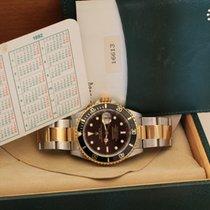 Rolex submariner date steel gold top condition box papers tritium