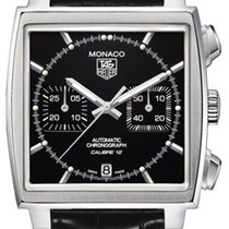 TAG Heuer Monaco Caw2110.fc6177 Automatic Chronograph Black...