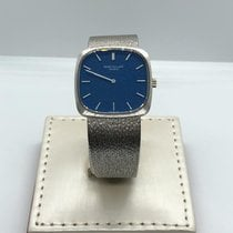 Patek Philippe Oro blanco Cuerda manual Azul 28mm usados Vintage