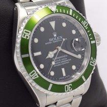 Rolex Submariner 16610 Oyster Date Ss Green Bezel Men's Watch...
