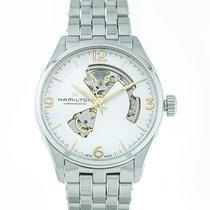 Hamilton 42mm Automatic new Jazzmaster Open Heart Silver