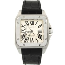 Cartier Santos 100 Steel 41mm Silver Roman numerals United States of America, California, Fullerton