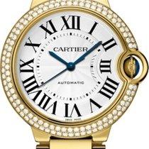 Cartier Ballon Bleu 36mm Żółte złoto Srebrny