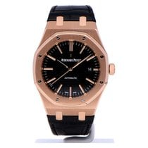 Audemars Piguet Royal Oak Selfwinding Rose gold 41mm Black No numerals
