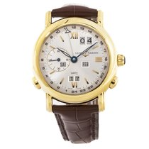 Ulysse Nardin GMT +/- Perpetual Yellow gold 39mm Silver Roman numerals