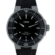 Oris Aquis Date Steel 43mm Black No numerals United Kingdom, Edgware