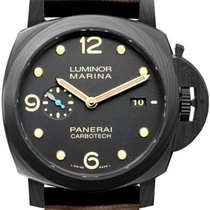 Panerai Luminor Marina Automatic Углерод 44mm Чёрный