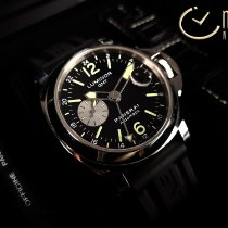 Panerai Luminor GMT Automatic Steel 44mm Grey Arabic numerals