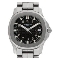 Patek Philippe Aquanaut pre-owned 36mm Black Date Steel