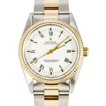 Rolex Datejust Zlato/Ocel 34mm Bílá Římské
