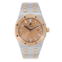 Audemars Piguet AP Royal Oak 33mm Steel & Rose Gold Pink Dial...