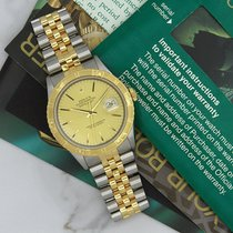 Rolex Datejust 16263 Turnograph Automatic 18K Yellow Gold And...