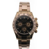 Rolex Red gold Automatic Black No numerals 40mm new Daytona