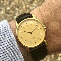 Omega De Ville Mechanical Mens vintage cal 625 gold watch + Box