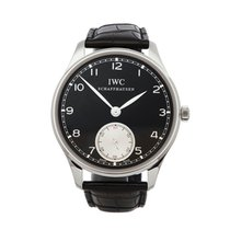 IWC usados Cuerda manual 44mm Negro