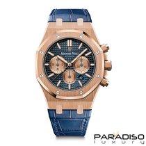 Audemars Piguet Royal Oak Chronograph Or rose 41mm Bleu