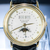Blancpain Villeret Moonphase Yellow gold 34mm White Roman numerals
