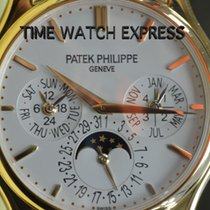 Patek Philippe Yellow gold Automatic Silver No numerals 37.2mm new Perpetual Calendar
