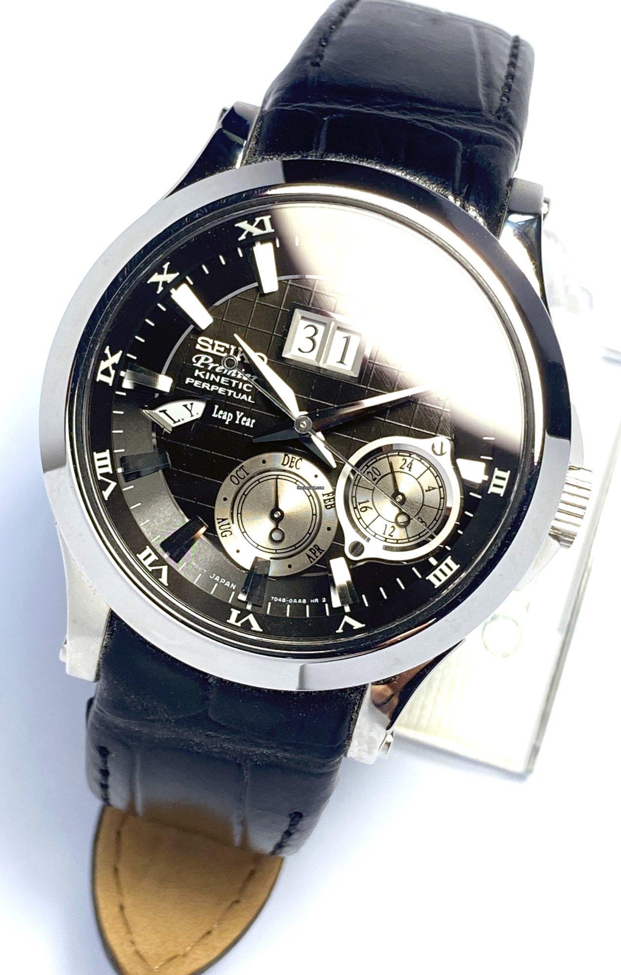 Seiko Premier Kinetic Perpetual Calendar SNP005P1 Black voor