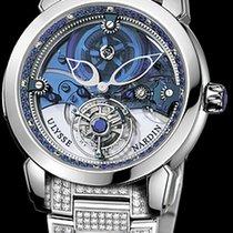 Ulysse Nardin Royal Blue Tourbillon новые Механические Часы с оригинальными документами и коробкой 799-82-8
