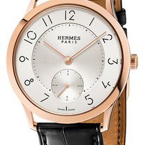 Hermès Rose gold Automatic Silver 39.5mm new Slim d'Hermès