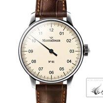 Meistersinger N1 Watch, Manual Winding, Ivory