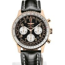 Breitling Navitimer 01 43 Arabic Numeral Dial Gold Case Black...