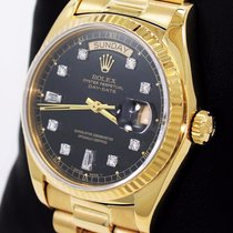 Rolex President Day-date 18038 18k Yellow Gold Baguettes...