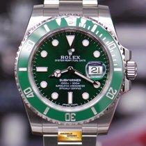 """Rolex Oyster Submariner """"green Hulk"""" 116610lv (new-unworn)"""