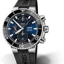 Oris Aquis Chronograph Steel 45,50mm Blue No numerals