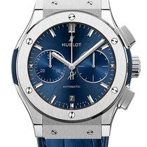 Hublot Classic Fusion Blue Titan 45mm Blau Keine Ziffern