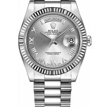 Rolex Day-Date II White gold 41mm Silver United States of America, New York, NEW YORK