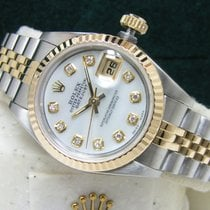 Rolex Lady-Datejust 26 White MOP Diamond Dial Boxes Booklets
