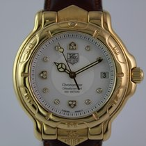 TAG Heuer 6000 Or jaune 39mm Blanc