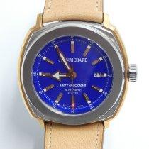 JeanRichard Terrascope Goud/Staal Blauw