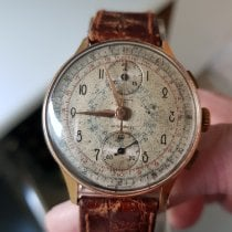 Chronographe Suisse Cie Chronograph 35mm Handaufzug 1952 gebraucht Champagnerfarben