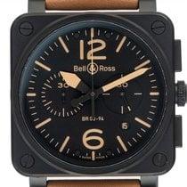 Bell & Ross Chronograph 42mm Automatik neu Schwarz