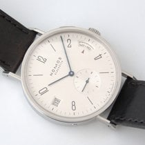 NOMOS Tangomat GMT Steel 40mm White No numerals