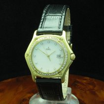 Ebel 1911 pre-owned 35.4mm Mother of pearl Leather