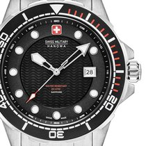 Swiss Military new Quartz Luminescent Hands Rotating Bezel Luminous indexes 44mm Steel Sapphire crystal