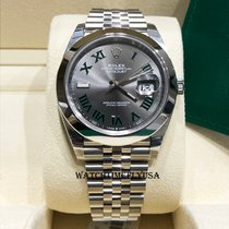 Rolex Datejust Steel 41mm Grey Roman numerals United States of America, New York, NEW YORK