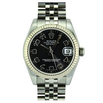 Rolex Lady-Datejust Zeljezo 31mm Crn