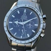 Omega Speedmaster Broad Arrow gebraucht 42mm Schwarz Chronograph Datum Stahl