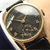 Tavannes Yellow gold 32mm Manual winding TAVANNES SOLID GOLD GILT DIAL BLACK CALATRAVA pre-owned