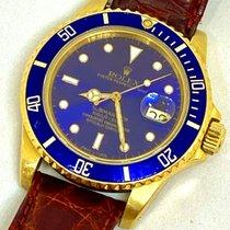 Rolex 16808 Gelbgold 1985 Submariner Date 40mm gebraucht Deutschland, Augsburg