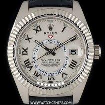 Rolex 18k White Gold Silver Dial Sky-Dweller Gents B&P 326139