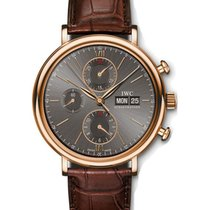 IWC IW391021 Porofino Chronograph 42mm Automatic in Rose Gold...