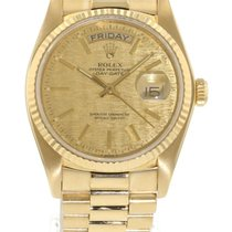 Rolex Day-Date 18038 Watch with 18k Yellow Gold Bracelet and...